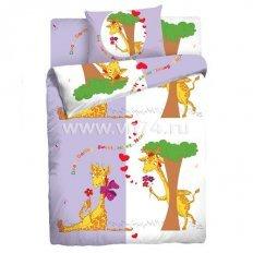 Детское постельное белье Влюбленные жирафы (бязь-люкс)