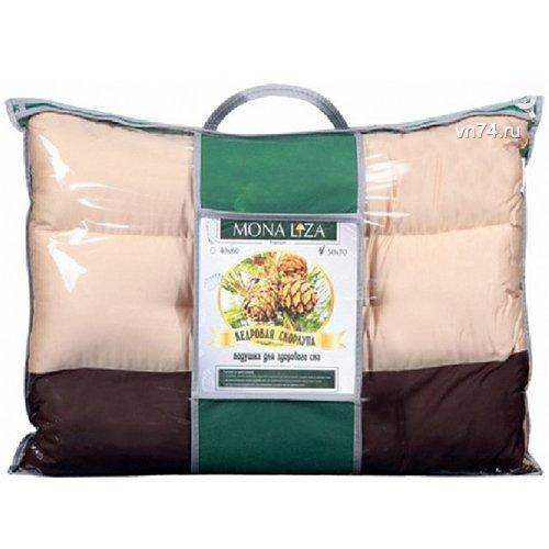 Подушка валик со скорлупой кедровых орешков Mona Liza Premium