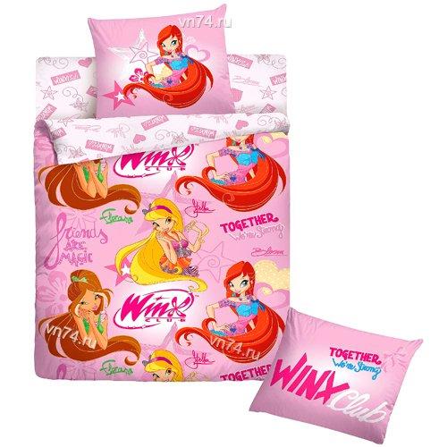 Детское постельное белье Winx 2013 (ранфорс)