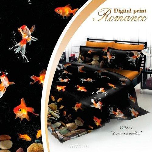 Постельное белье 3D Romance Золотые Рыбки (сатин)